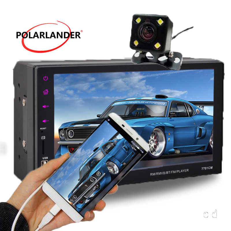 7 inch Touch screen Car mp5 radio 9 Languages Android Phone Mirror Link Bluetooth FM TF USB rear view camera stereo