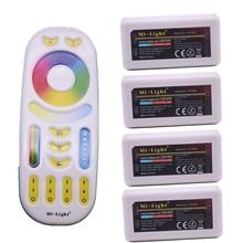 MiLight RGB CCT (RGB + Cool White + WARM White) CONTROLLER DC12 24V 2Ax5CH FUT039 + 2.4G RF Wireless RGB + CCT 4 Zone รีโมทคอนโทรล