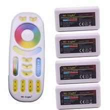 MiLight RGB CCT (RGB + Koel Wit + Warm Wit) controller DC12 24V 2Ax5CH FUT039 + 2.4G RF Draadloze RGB + CCT 4 Zone Touch Remote