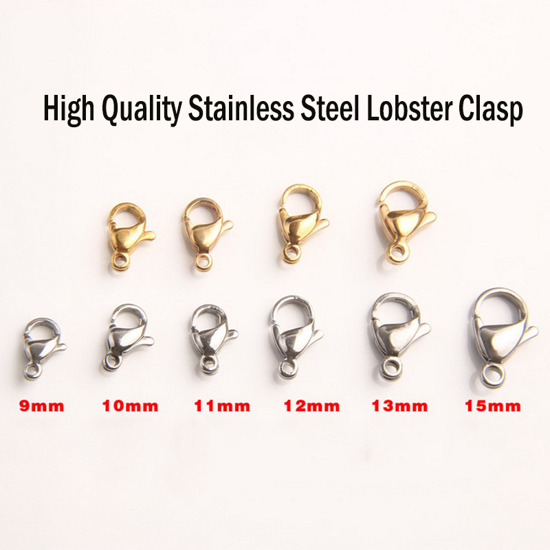 Lots of 13 mm stainless steel clasps