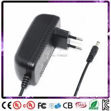 Cabo 90 cm 30 v 0.5a adaptador de energia ac de 30 volts 0.5 amp 500ma EU plugue Potência de entrada para 100 240 v ac 5.5×2.1mm fornecer