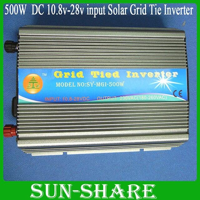 free shipping!  500w solar grid tied inverter DC 10.8V-30V .AC 110V,120V,130V,210V,220V,230V