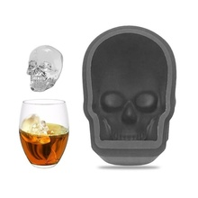 GT 2pcs Big 3D Skull Ice Tray Mold Silicone Cubes Bar Party Wine Cube Maker  DIY Pudding Creative Home Making