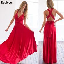 Ladies Perfect dress Beautiful long maxi women sexy V-neck Wrap around design robe Club Red Dress Bandage Long Party