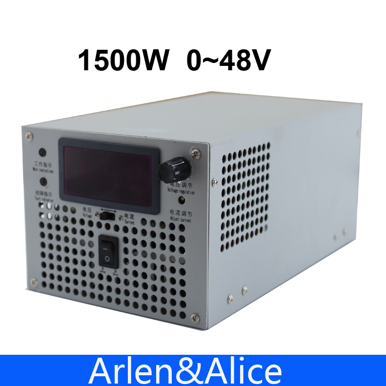 1500W 48V 32A 220V adjustable Single Output Switching s