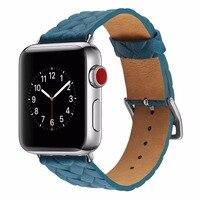 Geprägte Lederband für Apple Uhr Echt Leder Band für Apple Uhr Serie 38mm für iwatch Ersatz offizielle farbe