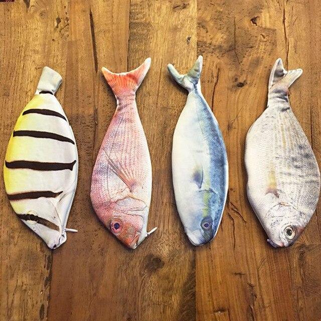 1 шт. Творческий рыбы Форма пенал Kawaii в Корейском стиле ткань карандаши сумки школьные принадлежности канцелярские Горячая ручка Подарочная коробка