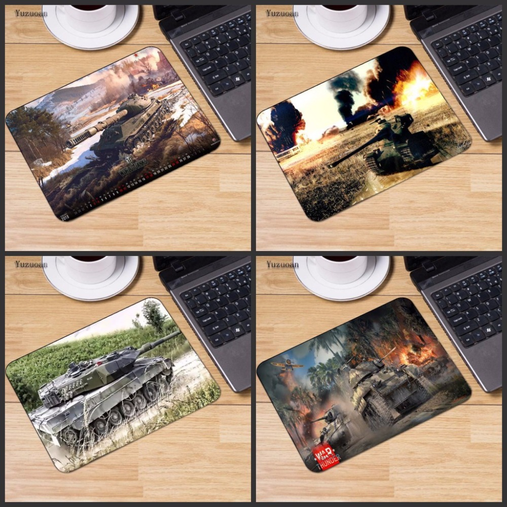 Yuzuoan Wholesale And Retail Rubber Mousepad World of Tanks Style Gaming Mouse Pad PC Computer Laptop Gaming Mice Mat For Gamer