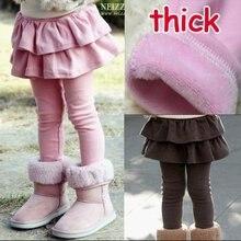 ; Размеры 100-140; 5 шт./лот; плотные теплые зимние леггинсы и юбка для девочек; брюки для девочек; детские штаны