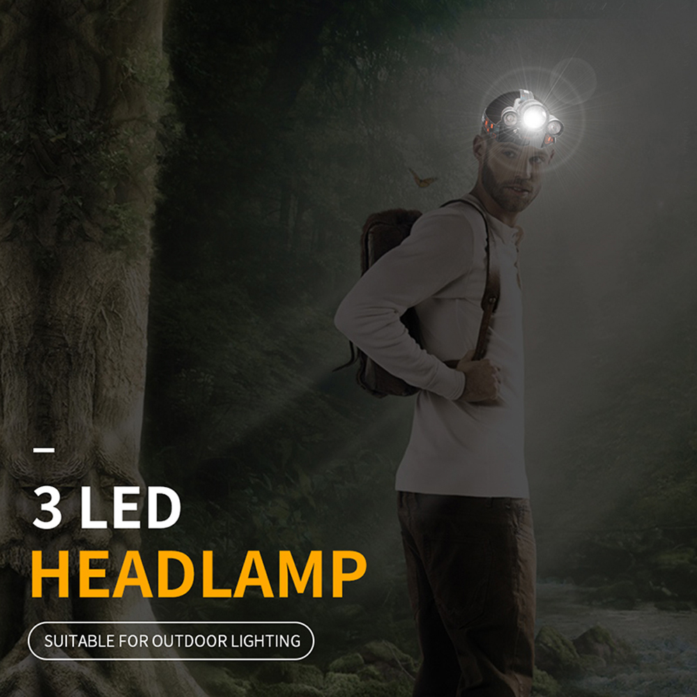 BORUiT LED Headlamp Bicycle light 3-Mode IPX5 Headlight RJ-1156 XML L2 green LED Cycling Light Head Torch Out Door light Frontal (2)