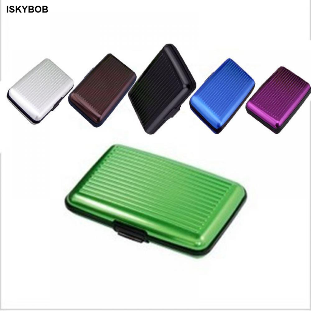 2019 Brand New Metal Business Credit Card Name ID Card Holder Case Wallet Box Mini Antimagnetic Waterproof Aluminum Cards Holder