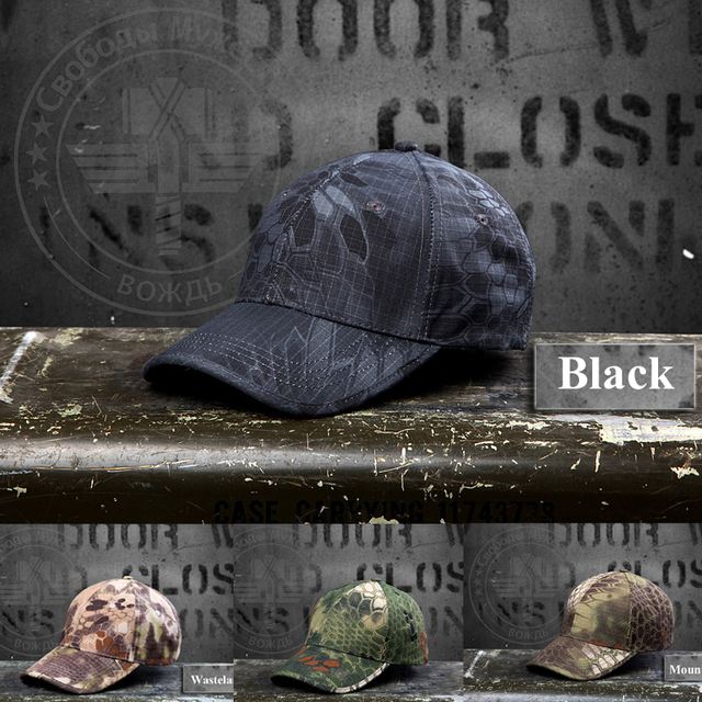 6f787524c4a1a TYPHON Hunting Camping Cap Tactical Hat Camo Military Baseball Cap Trucker  Outdoor Retro Camouflage Schild Kappe CS Army Caps