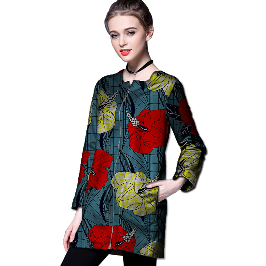 ecf9b329e754a African print long trench casual design women's outfits outwear African  coat dashiki clothes o-neck overcoat