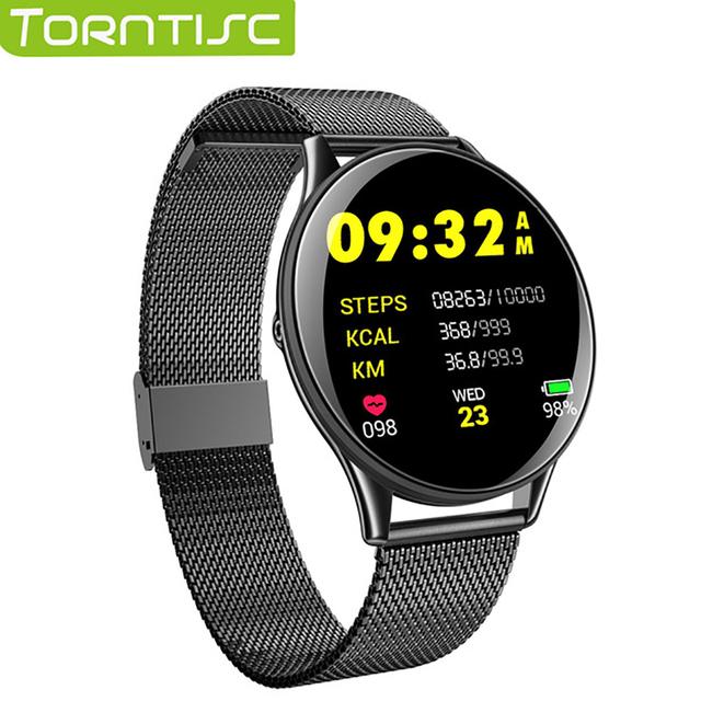 Torntisc Smartwatch IP68 waterproof Tempered glass Activity Fitness tracker Heart rate monitor Sports Men women Smart band