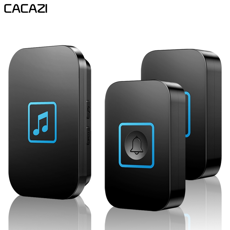 CACAZI Wireless Doorbell Waterproof 300M Remote Battery 2 Button 1 Receiver US EU UK AU Plug Intelligent Home Calling BellCACAZI Wireless Doorbell Waterproof 300M Remote Battery 2 Button 1 Receiver US EU UK AU Plug Intelligent Home Calling Bell