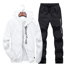 Letters Hoodie jacket+ jogger pant man sport suits outdoor sportwear Tracksuit gym clothing