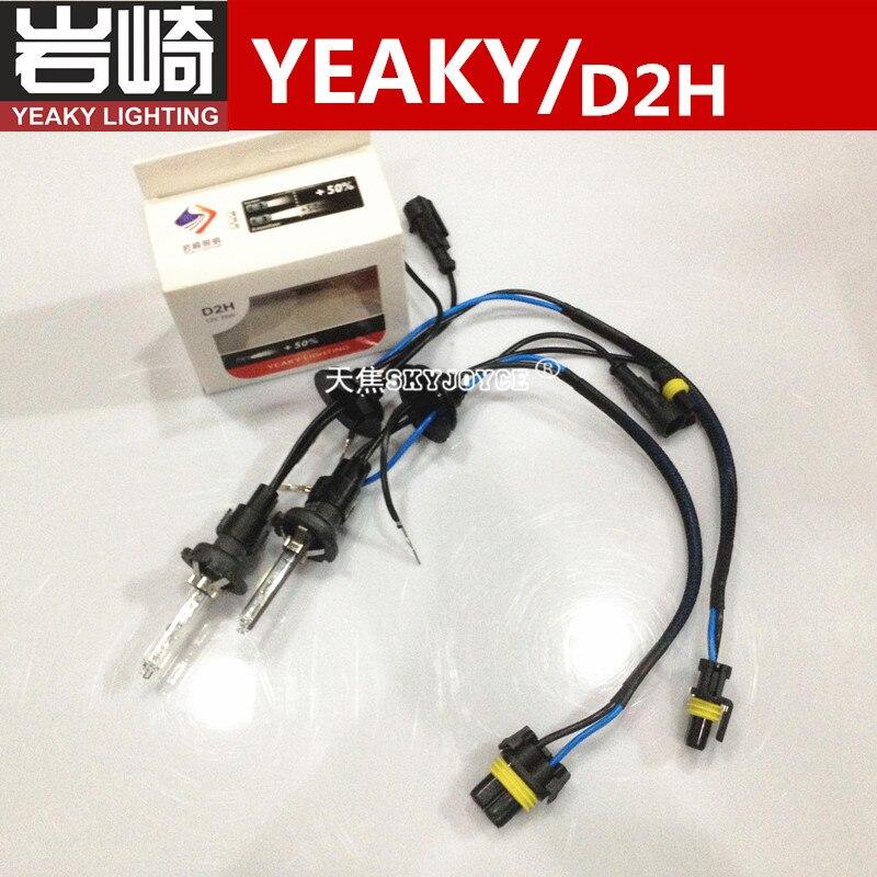 2 PCS 35 W YEAKY D2H ESCONDIDO bulbo D2C D2S com fios yeaky iluminação acessórios do farol do automóvel D2Y 4500K 5500K 6500K