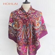 91f734c6910d Vente chaude Nouveau Mode Femme Écharpe De Luxe Marque Grand Carré Coton  impression Hijab Wrap Echarpes