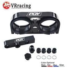 VR RACING-двойной Кронштейн топливного насоса заготовка алюминиевая сборка выпускной коллектор в черном для 044 топливный насос W/логотип pqy VR-LD2642-QY