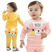 Anlencool Sale Vest Roupas Meninos Cubs Spring Brand New Children Suit Smiling Baby Clothing Boy Clothes Set PP Pant