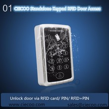 RFID 125KHZ Card Reader  standalone Door Lock entry management system with keypad Help 1000 card customers /PIN /PIN+RFID card