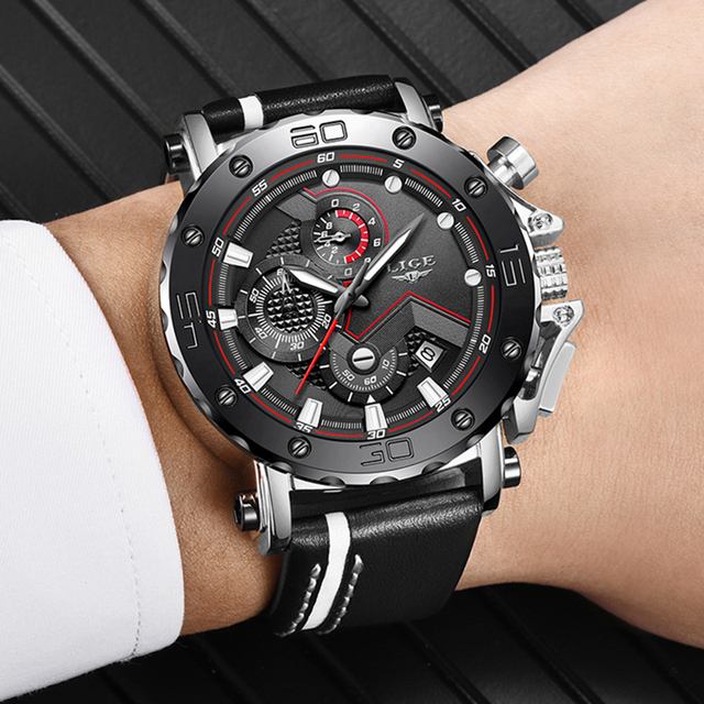 New Fashion Watch Men LIGE Top Brand Sport Watches Mens Quartz Clock Man Casual Military Waterproof WristWatch Relogio Masculino