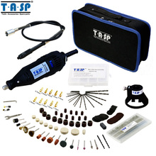TASP 130W Electric Mini Drill Rotary Tool with Flexible Shaft and 175PC Accessories Storage Bag