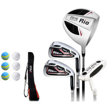PGM 4 pcs Carbon Golf Clubs Men Rio Complete Sets Light durable Good elastic Wood #1 Iron #7 #SW PUTTER BAG Golf balls Male(China)