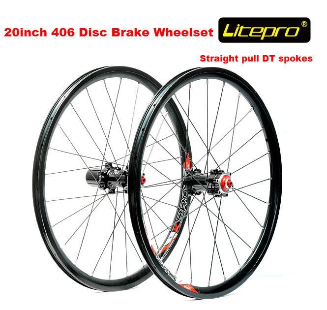 Litepro straight pull 20 inch 406 wheelset BMX folding bike disc brake wheel set 406 wheel set 100mm/135mm new folding bike wheel set litepro 20inch 451 wheelset 74 100mm 130 135mm 14 16h 4beraing hub froth rear quick release wheels