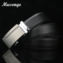 MUSENGE Leather Belt Men Cinto Masculino Designer Belts Men High Quality Automatic Ceinture Homme Cinturones Hombre Luxe Marque