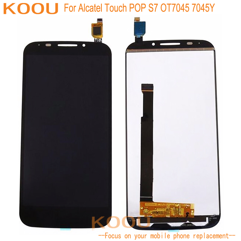 Mobile Phone LCD Display For Alcatel Touch POP S7 OT7045 <font><b>7045Y</b></font> TouchScreen Dightizer Assembly Replacement Parts For Alcatel 7045 image