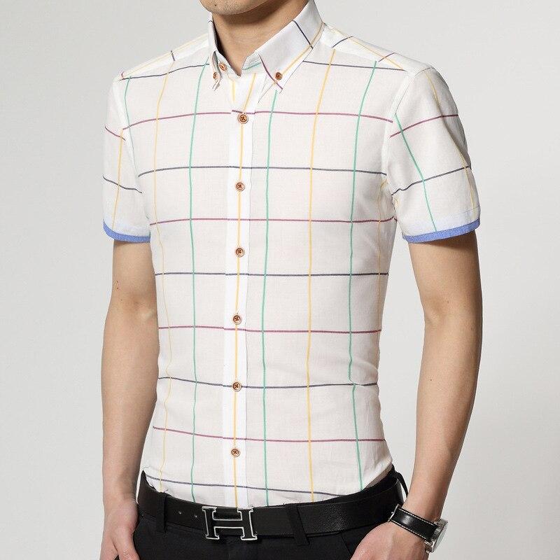 New pattern men shirt sales hot short sleeve shirts men's slim ...