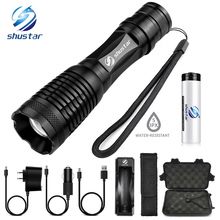 CREE XM-T6 Bicycle Light 4500 Lumens Bike Light 7modes Torch Zoomable LED Flashlight +18650 Battery + Charger + Bicycle Clip softroad пуф