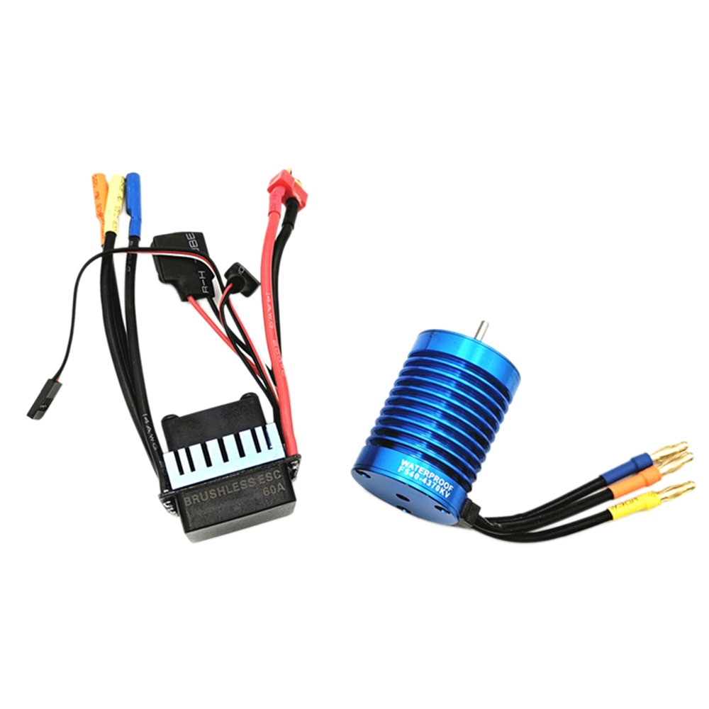 F540 4370Kv 4-Pole Senseless Brushless Motor+60A Esc Electric Speed  Controller For Rc Car 1:8 1:10