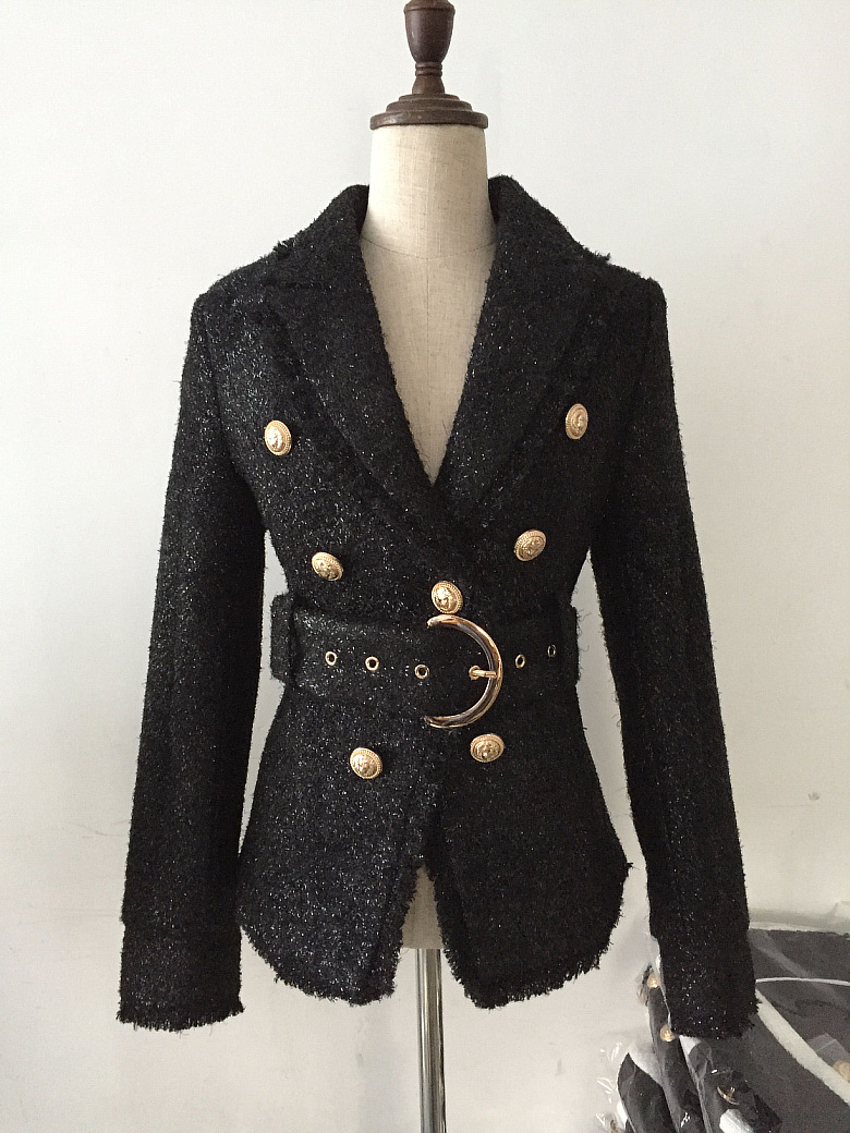 2019 Delgado negro blazer deep V manga completa mujer abrigo con slash-in chaqueta de deporte from Ropa de mujer    2
