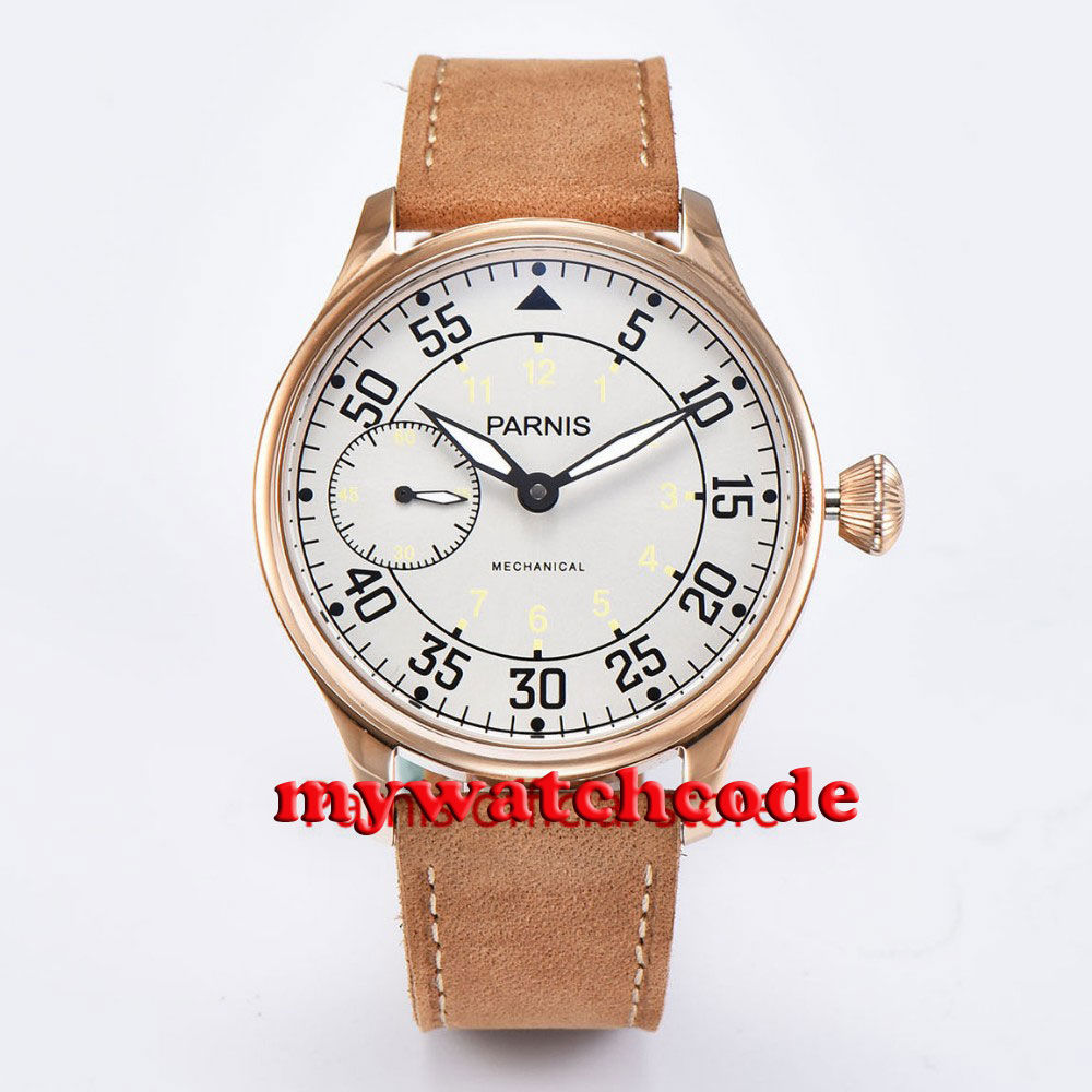цена parnis silver dial golden plated case 6497 movement hand winding mens watch P678 онлайн в 2017 году
