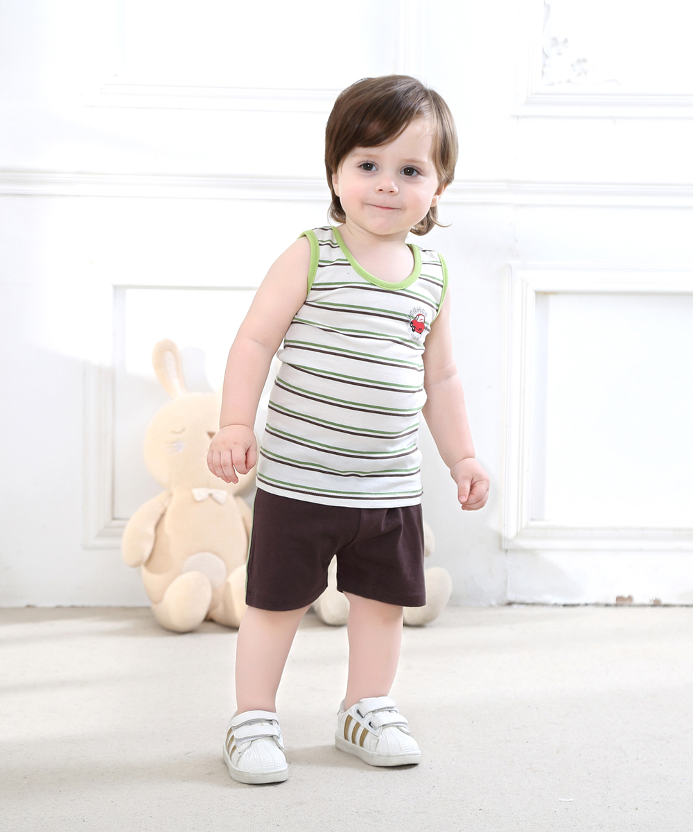 8cd359cb0 Baby Boy Clothing Set 1 3 Years Old Vest Set Shorts Casual Wear in ...