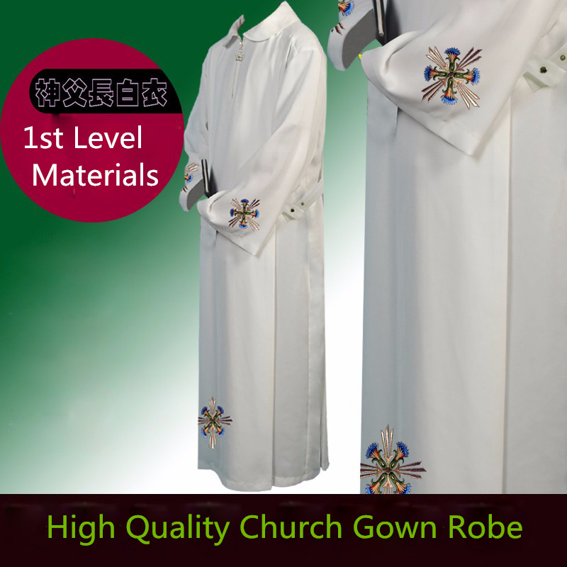 Catholicismus Choir Robe Christian Apparel Church Worship Cleric Suits Gown Catholic EcclesiaCatholica Church Gown Robe