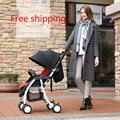 Ano novo do bebê luz carrinho de criança dobrável carrinho de criança carro bb de carro do bebê