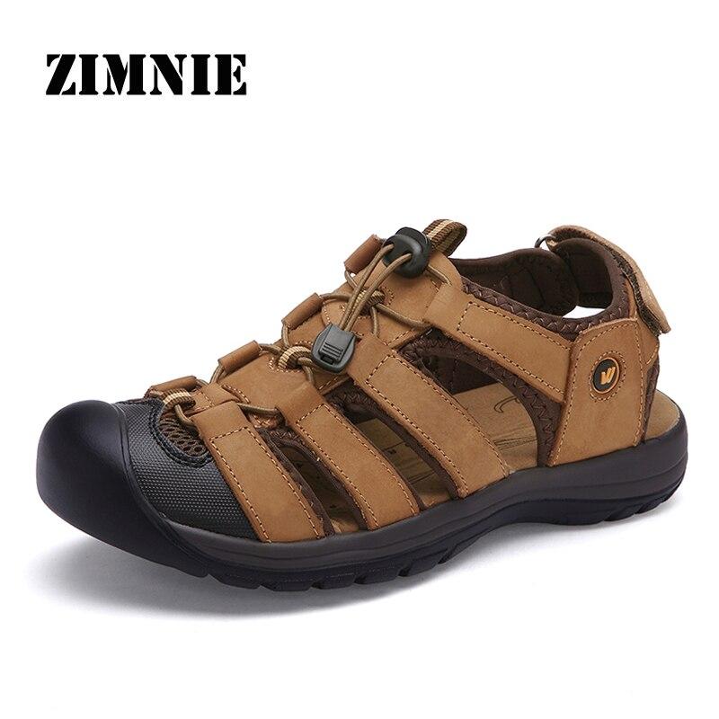 Herrenschuhe 2019 Sommer Herren Split Leder Sandalen Weichen Anti-slip Sandalen Für Mann Fischer Casual Kuh Leder Sandale Schuhe Männer Sandalen