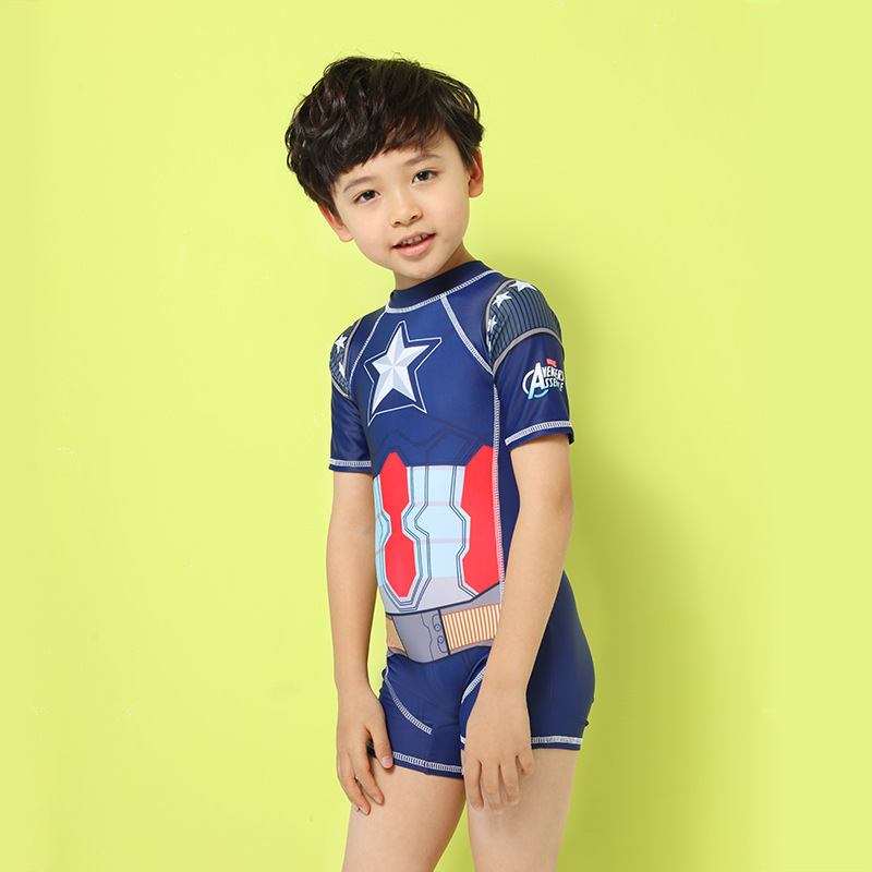 Boy Swimsuit Boys Children Child Bikini For Cute Kids Swimsuits New Captain Baby Pants Short Long Sleeve Wear Biquini Infantil one piece swimsuit children s swimwear girl children baby swim wear kids cute swimsuits 2017 new buoyancy life biquini infantil