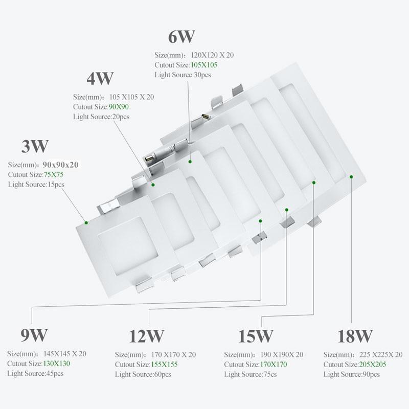 Ultra Thin Led Downlight 3W 4W 6W 9W 12W 15W 18W Կլոր - Ներքին լուսավորություն - Լուսանկար 4