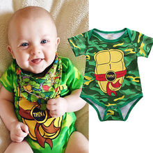 Cute Cartoon Kids Costume Newborn Baby Girl Bodysuit Hot Baby Boy Print Jumpsuit Toddler Gray Summer Outfits