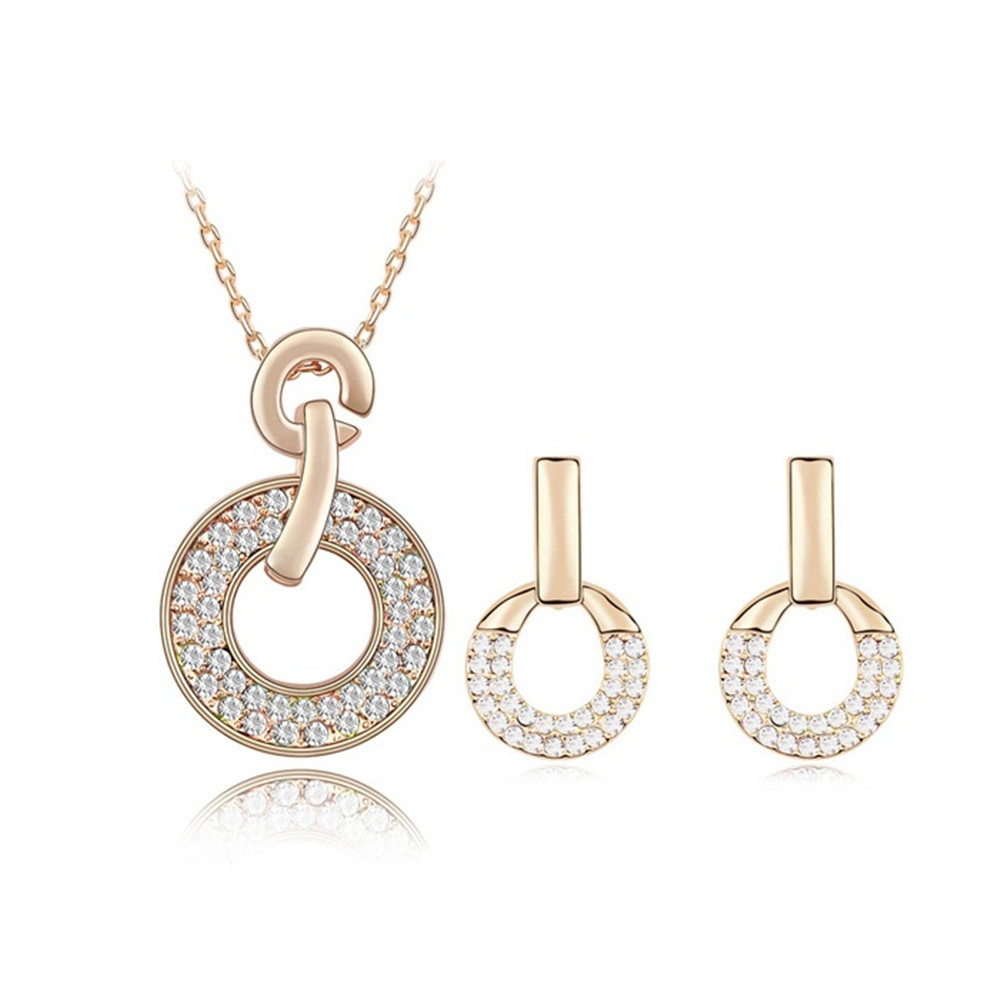 Big Sale Christmas Mother's Day Gifts Women Jewelry Set Real Austrian Multi Crystal From Swarovski