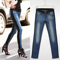 Tight personalized ssy patchwork skinny pants female jeans 9429