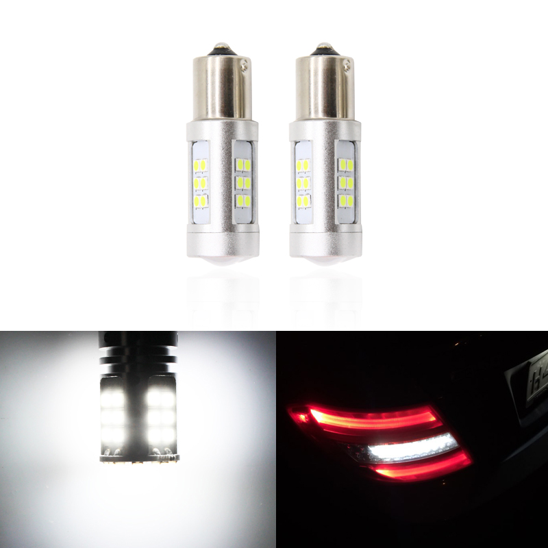 2x CANbus Led Rear Reverse Tail Backup Light Replacement Bulbs For <font><b>Mercedes</b></font> Benz W204 C Class 2007-2014 Car-Styling image