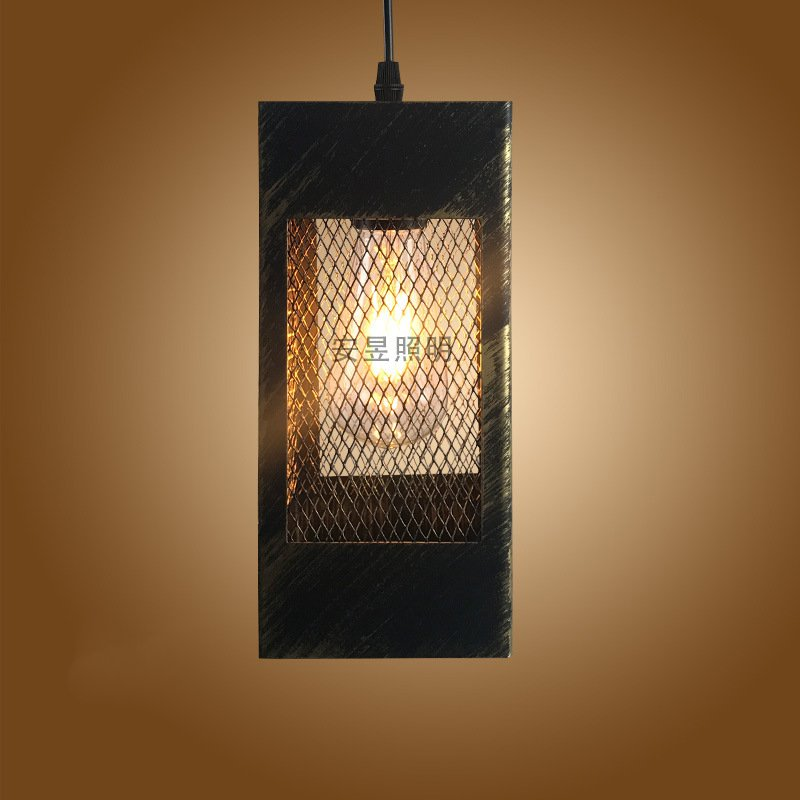 Creative Vintage cuboid Pendant Lamp Retro E27 Classic Pendant Light Loft Decorative Fixture Lighting for Restaurant Cafe BarCreative Vintage cuboid Pendant Lamp Retro E27 Classic Pendant Light Loft Decorative Fixture Lighting for Restaurant Cafe Bar