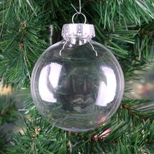 Romantic Design Christmas Decorations Ball Transparent Can Open Plastic Christmas Clear Bauble Ornament