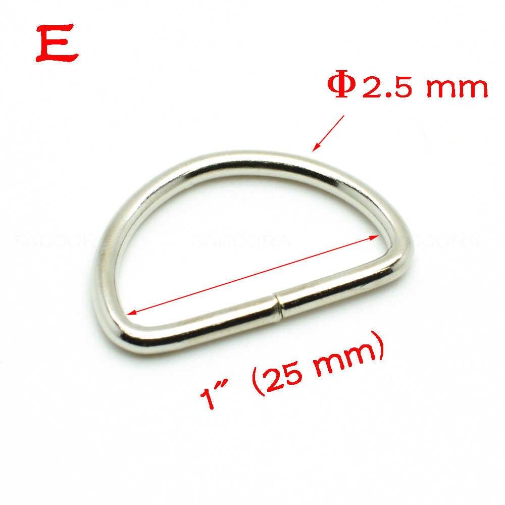 10 шт./упак. D кольцо Металлическое кольцо металлическая застежка кожанный браслет аппаратный бюстгальтер на крючках упаковка аксессуары лямки 10 мм-25 мм