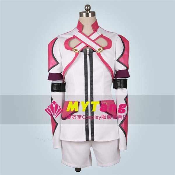 Gioco Anime Tales Of Graces Sophie Cosplay Costum Rosa Bianco di Combattimento Set Completo di Qualsiasi Dimensione NUOVO